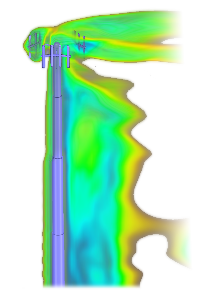 Discovery Live Air flow modelling around a cellular mast